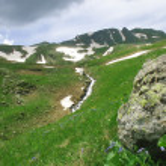 fluxo nas montanhas — Foto Stock