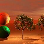 World green and orange — Stock Photo #2151858