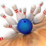 Bowling strike — Stock Photo