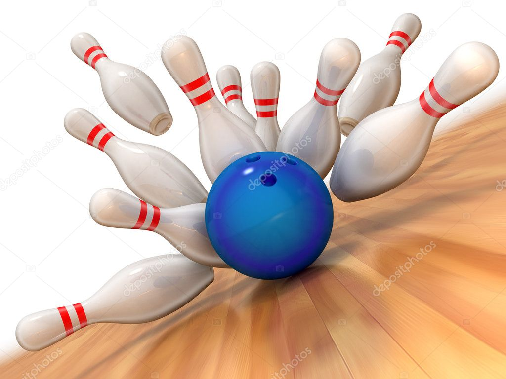Bowling strike illustration — Stockfoto #2073911