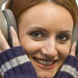 Beautiful woman with headphones - Stock Photo