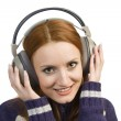 Smiling woman with headphones — Stock Photo #2100939