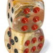 Onyx dices — Stock Photo