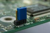 Computer motherboard circuit — Stock Photo