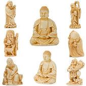 Buddha with friends — Stock Photo