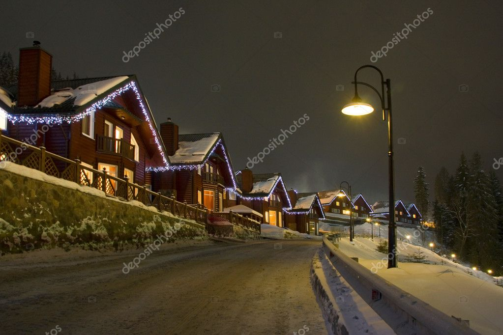 Night winter landscape — Stock Photo #2577213