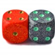 Red and green dice — Stock Photo #2104267