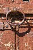 Rusted door knocker — Stock Photo