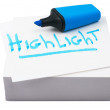 Blue highlighter — Stock Photo