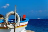 Sicilian fisherman boat — Stock Photo