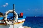 Sicilian fisherman boat — Stock Photo