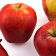 Four red apples — Stock Photo