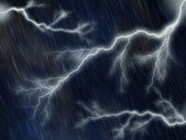 Rainy and stormy night — Stock Photo