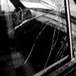 Broken Car Window - Stock Photo