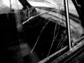 Broken Car Window — Stock Photo
