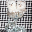 Royalty-Free Stock Photo: 2 Chinchilla kittens in glass bowl