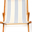 Miniature wooden deck chair — Stock Photo
