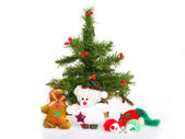 Christmas tree, gifts, toys — Stock Photo