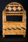 African ethnic woven bamboo chair — Stock Photo