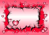 Heart sharp frame backgrounds — Stock Photo