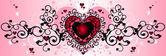 Valentine's love heart — Stock Photo