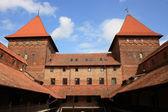 Medieval German Gothic castle in Nidzica — Stock Photo