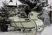 White sledge — Stock Photo