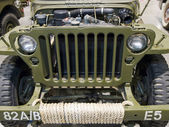 Cowl of military car — Stock Photo