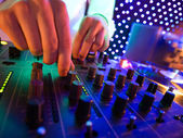 Mixer in nightclub — Stock Photo