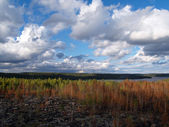 Karelian a bird's-eye view — Stock Photo