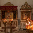 Icon in russian cathedral — Stock Photo