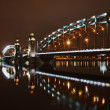 Great Piter bridge in night — Foto de Stock