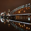 Great Piter bridge in night — Stockfoto