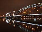 Piter gran puente en la noche — Foto de Stock