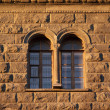 Windows of old house — Stock Photo