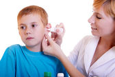 Child and doctor — Stock Photo
