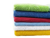 Color towels — Stock Photo