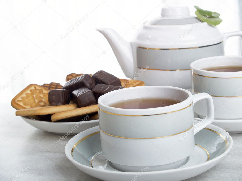 Beautiful still life composition of tea — Lizenzfreies Foto #2186476