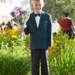 Boy with bouquet of colors — Stock Photo #2289459