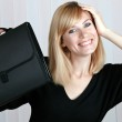 Business woman smiling — Stock Photo #2299905