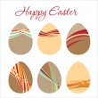 Royalty-Free Stock Vector Image: Modern decorated Easter eggs