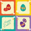 Easter greeting card with eggs — Stock Vector