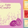 Easter greeting card with colorful eggs — Stock Vector