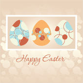 Easter greeting card with Easter eggs — Stock Vector