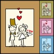Wedding greeting card - Vettoriali Stock