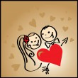 Royalty-Free Stock Imagem Vetorial: Couple in love