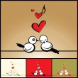 Love - birds - Stock Vector
