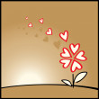 Flower of love - Stock Vector