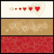 Love background with hearts - Stock Vector