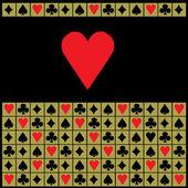 Fondo con corazón — Vector de stock